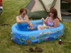 P and I in baby pool
