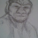 drawing of an 'ork'