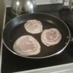 pancakes frying